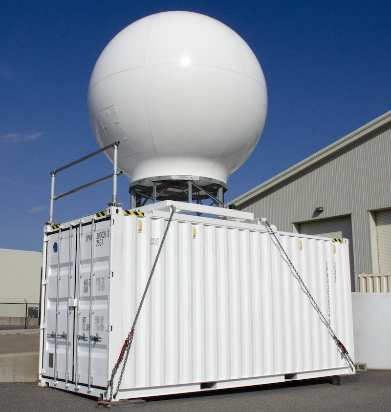 VSAT Satellite System, 20-foot ISO container