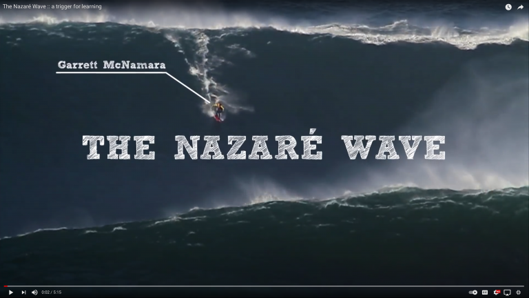 The Nazaré Wave: a trigger for learning